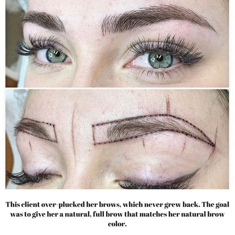 Microblading Before & After Images by Keka - Swerve Salon